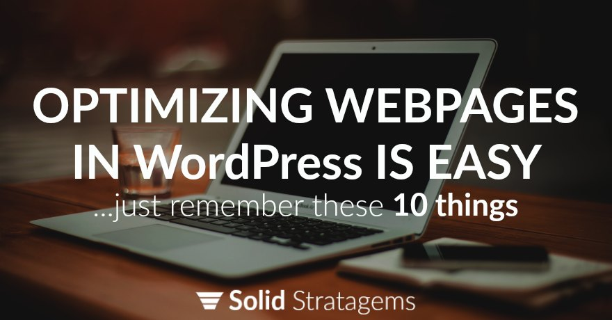 Optimize webpages in WordPress Image