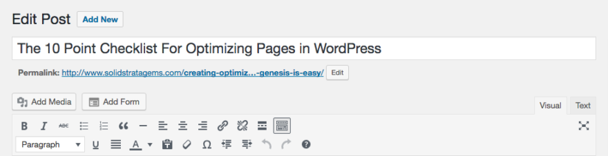 Where To Find Your Permalink in WordPress