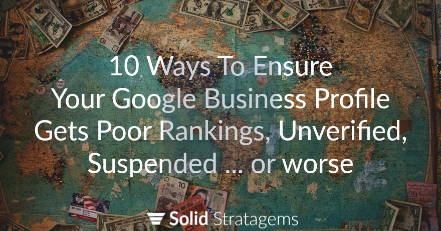 Why Your Business Has Poor Rankings on Google Maps